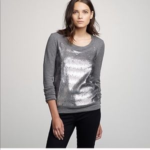 Sequin jcrew sweatshirt